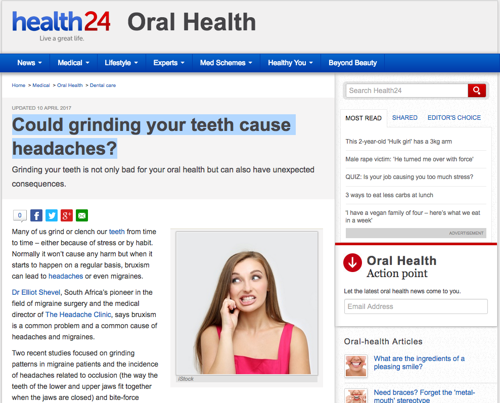 Could grinding your teeth cause headaches? - The Headache Clinic